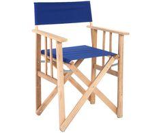 Rüsten Sie sich für die Gartensaison: der klappbare Regiestuhl Olivia in Blau von LONA jetzt auf >> WestwingNow shoppen.