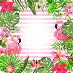 Summer Flamingo Party Happy Birthday Party Banner Backdrop Tropical Hawaiian Beach Luau Photography Background Custom Your Name Your Size - Summer Flamingo Party Happy Birthday Party Banner Backdrop Flamingo Party, Flamingo Birthday, Party Banner, Banner Backdrop, Backdrop Background, Hawaiian Background, Birthday Backdrop, Birthday Background Wallpaper, Party Kulissen