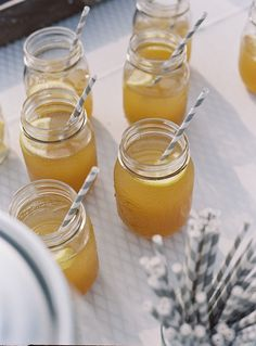Mason jar drinks