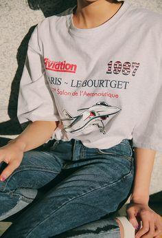 1987 Aircraft Print T-Shirt | STYLENANDA