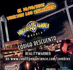 """Chatis, espero que aprovechéis este #descuento para visitar el espectáculo """"Zoombies"""" del Parque Warner. ¡Tiene que ser muy divertido y terrorífico!"""