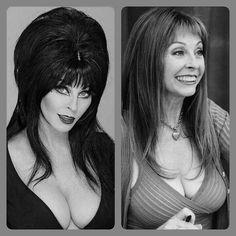 Elvira and Cassandra Peterson Dark Beauty, Gothic Beauty, Elvira Movies, Beautiful Celebrities, Beautiful Women, Photos Rares, Cassandra Peterson, Female Stars, Foto Pose