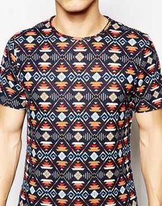 Native Youth Brushed Aztec Print T-Shirt