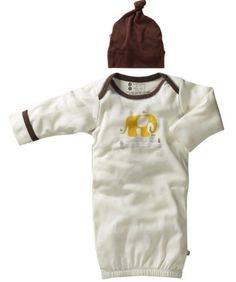 Babysoy Organic Layette Gown  Hat Newborn Sleep Sack Gift Set Baby Boy 36 Months Elephant *** Check out this great product.