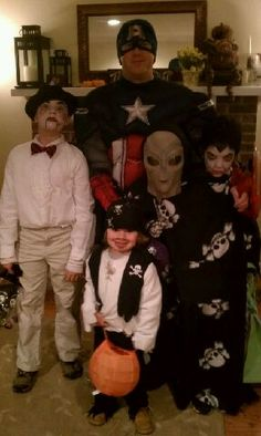 The whole family!! Happy Halloween!