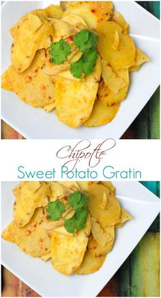 Chipotle Sweet Potato Gratin. Smoky, spicy and sweet, this side dish is perfect to change up regular potatoes with a kick! -  http://BoulderLocavore.com