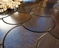 Jamie Beckwith breathes new life into parquet flooring and we are admiring her Enigma wood tile collection right now. Yes, that's right - interlocking wood tiles. Wooden Floor Tiles, Wood Tile Floors, Parquet Flooring, Wooden Flooring, Flooring Ideas, Parquet Tiles, Hardwood Tile, Wood Parquet, Unique Flooring