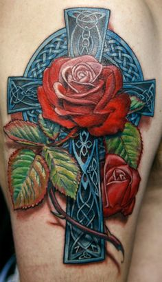 floral cross tattoo - Google Search