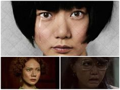 doona_bae_cloudatlas..............Doona Bae  Donna Bae's biggest role is playing a futuristic clone named Sonmi-451, but she also pops up as a colonial woman living in San Francisco. All characters played: Tilda / Megan's Mom / Mexican Woman / Sonmi-451 / Sonmi-351 / Sonmi Prostitute.