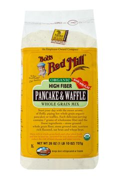 These 50 Fiber-Filled Foods Are the Weight Loss Trick You've Been Looking For. Bob's  Red Mill Organic High Fiber Pancake & Waffle Whole Grain Mix