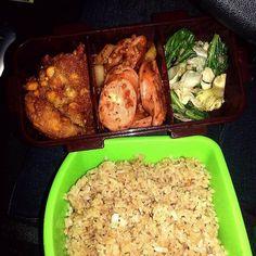 レシピとお料理がひらめくSnapDish - 5件のもぐもぐ - bakwan, beef cheese bratwurst, veggies and butter fried rice by vitantri