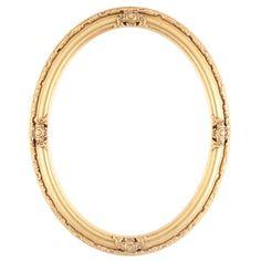 gold oval frame   Home Picture Frames Oval Frames Jefferson Oval Frame #601 - Gold Leaf