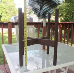 DIY Wooden Planter Stand