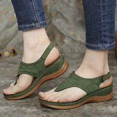 Comfortable Flip Flops, Comfortable Shoes, Wedge Sandals, Shoes Sandals, Summer Shoes, Summer Wedges, Summer Sandals, Beach Sandals, Dress Summer