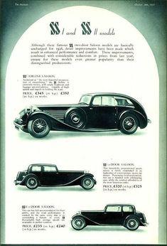 SS 1935 Jaguar Daimler, Sidecar, Airstream, Magazine Covers, Concept Cars, Vintage Cars, Race Cars, Britain, Classic Cars