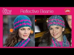 Left Hand: Crochet Reflective Beanie Tutorial