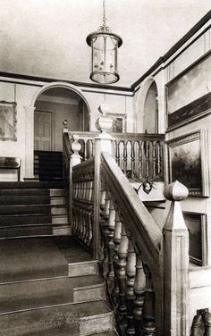 A picture of the 17th century magnificent oak staircase at Goldsborough Hall