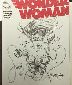 Wonder Woman by Stephen Segovia A quick one at komikon earlier.  #komikon #sketch #dccomics #wonderwoman