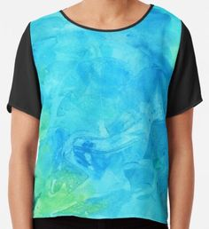By the Pool Watercolor Texture Chiffon Top Watercolor Circles, Watercolor Texture, Watercolor Pattern, Abstract Watercolor, Yellow Art, Green Art, Blue Art, Original Art, Original Paintings