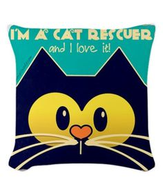 Look at this 'Cat Rescuer' Woven Throw Pillow on #zulily today!