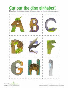 Literacy Concepts.. Take laminated dino alphabet cards and mix them up then have the children put them back in order.