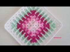 Crochet Square – Easy to Make (Tutorial) - Design Peak Crochet Bedspread Pattern, Crochet Motifs, Wire Crochet, Crochet Blocks, Crochet Afghans, Crochet Squares, Crochet Stitches, Manta Mandala, Motif Zigzag