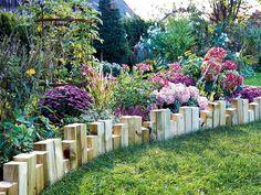 Arriete de madera y jardín vertical