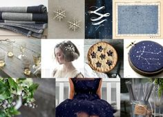 Constellation Themed Wedding Via Snippet & Ink Navy and Silver Wedding Stars