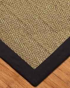 Four Seasons Seagr Rug Black Natural Rugnatural Homesseagr