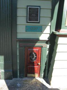 The Leprechaun door at Coleman's Restaurant