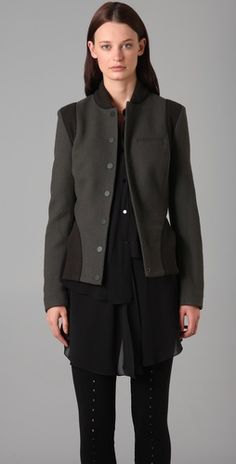 Alexander Wang Fitted varsity Jacket