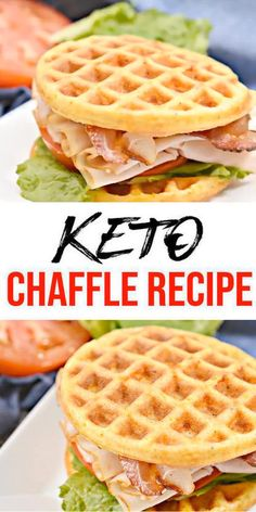 Low Carb Chaffle Idea – Homemade – Quick & Easy Ketogenic Diet Recipe – Completely Keto Friendly – Sandwich BLT Chaffle - My Best Food Recipe Ketogenic Diet Meal Plan, Ketogenic Recipes, Low Carb Recipes, Diet Recipes, Ketogenic Breakfast, Dessert Recipes, Smoothie Recipes, Slimfast Recipes, Quick Keto Breakfast