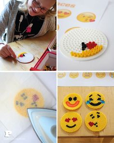 Emoji glasunderlägg - Pysselbolaget - Fun Easy Crafts for Kids and Parents More Emojis, Easy Crafts For Kids, Perler Beads, Decoration, Kids And Parenting, Fun Projects, Beading Patterns, Coasters, Birthday Parties
