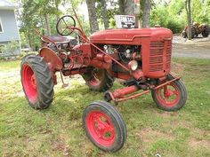 Old Farmall tractors~ We had one of these when I was a kid!!!  Used to drive the hell out of this thing!!