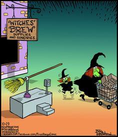 Free Range « ArcaMaxPublishing some clean hallowed humor. Halloween Cartoons, Halloween Art, Holidays Halloween, Vintage Halloween, Happy Halloween, Halloween Humor, Funny Cartoons, Funny Comics, Funny Memes
