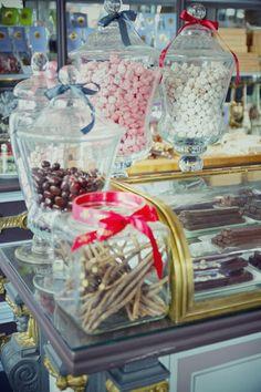 A candy shop, Meert, in Paris.