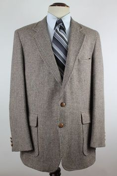 Levis Menswear Blazer Sport Coat 44L Leather Elbow Patches & Buttons 2 Btn Wool #Levis #TwoButton