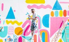 Mural wall art – wall space brooklyn artists think big with … – Graffiti World Mural Wall Art, Mural Painting, Art Paintings, Graffiti Wall, Instalation Art, School Murals, House Illustration, Wallpaper Magazine, Wallpaper Art