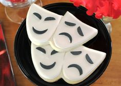 Comedy Tragedy Theater Mask Custom Sugar Cookies