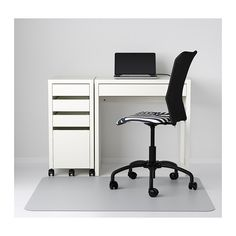 "MICKE Desk - white - IKEA (Closet office desk) Width: 28 3/4 "" Height: 29 1/2 "" / 29 1/2 "" Max. load: 55 lb"