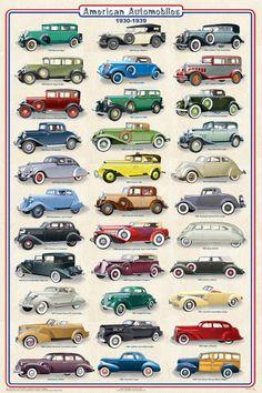 American Cars 1930-1939