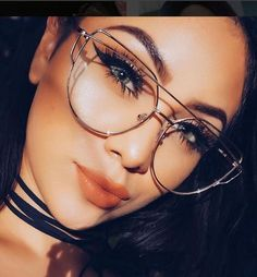 e8c9525f9a Details about LOVE PUNCH Flat Lens Clear Eyeglasses METAL FRAMES Glasses  SHADZ GAFAS. Gafas Mujer 2017Lentes ...