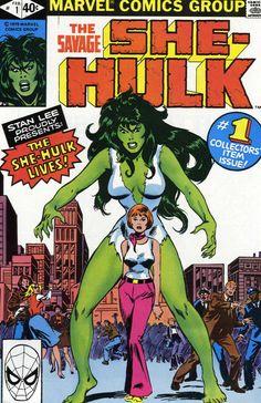 Savage She-Hulk Vol 1 1 cover by John Buscema and Irv Watanabe