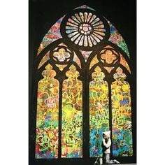 Shop for iCanvas Banksy 'Stained Glass Window Graffiti' Canvas Print Wall Art. Get free delivery On EVERYTHING* Overstock - Your Online Art Gallery Store! Get in rewards with Club O! Canvas Art Prints, Banksy, Graffiti, Banksy Art, Canvas Prints, Banksy Canvas Prints, Stained Glass, Art, Canvas Art