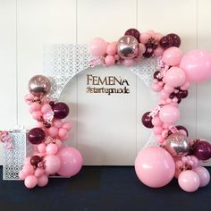 We are loving our Matching Laser Cut Arch & Plinth for the media photo wall. Props by Balloons by… Balloon Backdrop, Balloon Wall, Balloon Garland, Balloon Decorations, Birthday Decorations, 25th Birthday, Birthday Parties, Photo Ballon, Deco Ballon