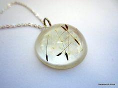 Real Dandelion Seeds Resin Necklace