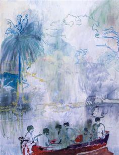 Peter Doig (British: 1959) -  Imaginary Boys