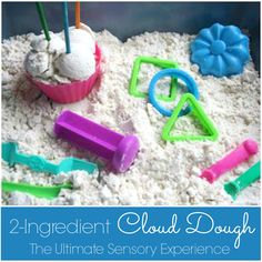 2-INGREDIENT CLOUD DOUGH - The Ultimate Sensory Experience! Sliky-soft and it smells amazing! Mold it, shape it, and then watch it crumble back into a fine, silky powder. Store it in an airtight container, and it will keep for years! - Happy Hooligans