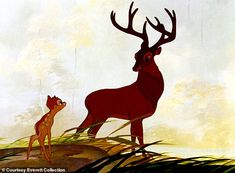 Heavy themes: The film deals directly with loss, as Bambi loses his mother in the first fe. Bambi Film, Live Action Film, Flora And Fauna, Animation Film, Nursery Rhymes, Fairy Tales, Moose Art, The Past, Disney
