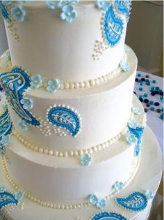 paisley wedding cake? i think so.